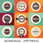 collection of vintage retro... | Shutterstock .eps vector #249796912