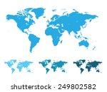 world map vector illustration... | Shutterstock .eps vector #249802582