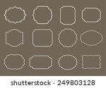 vintage labels.linear labels... | Shutterstock .eps vector #249803128