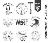 vector set of wine black and... | Shutterstock .eps vector #249811405