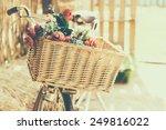 Vintage Bicycle With Flower  ...