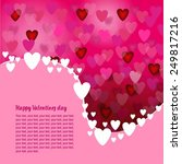 happy valentine's day card... | Shutterstock .eps vector #249817216