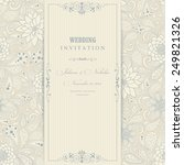 invitation  card with flowers... | Shutterstock .eps vector #249821326