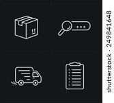 flat contour shop icon set | Shutterstock .eps vector #249841648