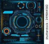 futuristic virtual graphic... | Shutterstock .eps vector #249844582