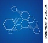 connection of hexagonal cells.  ... | Shutterstock .eps vector #249850225