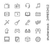 Entertainment Thin Icons