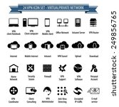vpn icon set   virtual private... | Shutterstock .eps vector #249856765