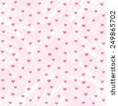 background pink heart | Shutterstock .eps vector #249865702