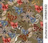 succulent plants seamless...   Shutterstock .eps vector #249869332