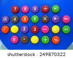 the calculator button many... | Shutterstock . vector #249870322