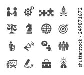 business and strategy icon set  ... | Shutterstock .eps vector #249871672