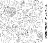 love romantic seamless pattern... | Shutterstock .eps vector #249876316