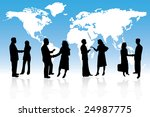 business people are standing in ... | Shutterstock .eps vector #24987775