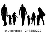 illustration of family holding... | Shutterstock .eps vector #249880222