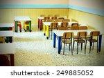 lunchroom of the refectory of... | Shutterstock . vector #249885052