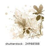 illustration of a floral... | Shutterstock .eps vector #24988588