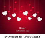 valentines day card vector... | Shutterstock .eps vector #249893065