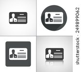 business card icons. set... | Shutterstock .eps vector #249899062
