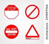 warn signs vector | Shutterstock .eps vector #249899566