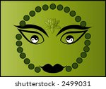 buddha face yin and yang  1... | Shutterstock .eps vector #2499031