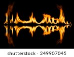 fire abstract and flames shapes ... | Shutterstock . vector #249907045