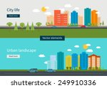 Flat design modern vector illustration icons set of urban landscape and city life. Building icon | Shutterstock vector #249910336