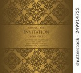 invitation card with vintage... | Shutterstock .eps vector #249914722