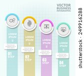 business infographic template.... | Shutterstock .eps vector #249916288