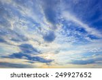 sunset blue sky as abstract | Shutterstock . vector #249927652
