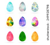 set of abstract colorful... | Shutterstock . vector #249928798