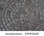 A Circular Square Stones Tiles...