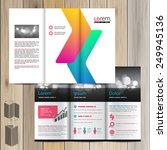 white brochure template design... | Shutterstock .eps vector #249945136