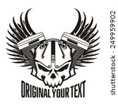 motorcycle machine skull wings | Shutterstock .eps vector #249959902