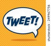 tweet design over yellow... | Shutterstock .eps vector #249967756