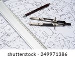 preparation for drafting papers ... | Shutterstock . vector #249971386
