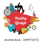 healthy lifestyle design ... | Shutterstock .eps vector #249971572