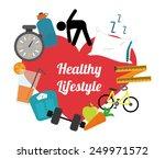 healthy lifestyle design ... | Shutterstock .eps vector #249971572