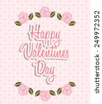 valentines day design  vector... | Shutterstock .eps vector #249972352