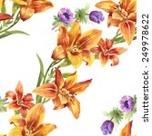 colorful seamless floral... | Shutterstock .eps vector #249978622