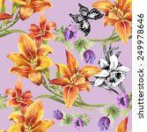 colorful seamless floral... | Shutterstock .eps vector #249978646