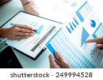 business people discussing the... | Shutterstock . vector #249994528