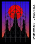 Silhouette Of Pagoda On The...