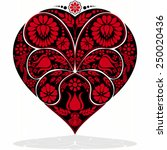 valentines day flower heart  ... | Shutterstock .eps vector #250020436