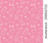 seamless baby pattern | Shutterstock .eps vector #250022722