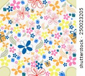 beautiful pattern with colorful ... | Shutterstock .eps vector #250023205