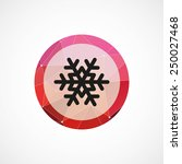 snowflake circle pink triangle... | Shutterstock . vector #250027468