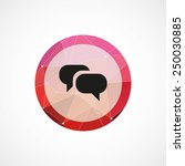 conversation circle pink...