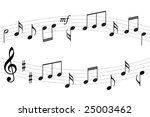 music notes background | Shutterstock .eps vector #25003462