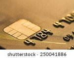 close up gold color credit card.... | Shutterstock . vector #250041886